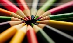 Color Wheel (disgruntledbaker1) Tags: school color macro colors wheel pencils back nikon dof bokeh f22 60mm monday f28 d90 disgruntledbaker1