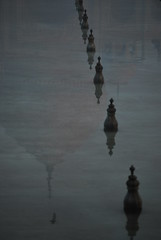 At the Taj Mahal, Agra, India (dscheronimo) Tags: travel india nikon asia asien wasser spiegel tajmahal indien reise d60