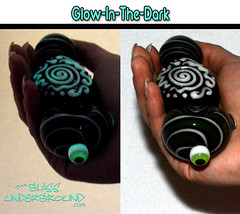Glow-in-the-Dark Pipes - TheGlassUnderground.com (desermeaux.christy) Tags: glass oregon weed pipes pipe 420 smoking sharp eugene clint marijuana cannabis glassblowing eugeneoregon headshop boro blower glassblower hightimes borosilicate clintsharp christydesermeaux
