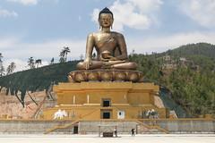 Giant Buddha at Thimphu (D A Scott) Tags: travel statue canon giant golden asia bhutan buddha buddhist bhutanese 60d