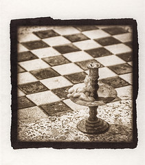 Chessboard - Thailand (Jake Groenhof) Tags: thailand candle bangkok platinum palladium chessboard gampi washi alternativeprocess candestick handcoated sekishu torinoko copyright2014