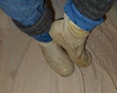 W2Vi16 (Lisban2009) Tags: white socks viking wellies rubberboots gummistiefel sailingboots turneddownwellies foldedwellies