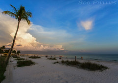 Fort Myers Beach Sunset (tropicdiver) Tags: sunset beach gulfofmexico clouds florida palmtrees fortmyersbeach