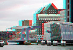 Spoorweghaven Rotterdam 3D (wim hoppenbrouwers) Tags: 3d rotterdam anaglyph stereo kopvanzuid redcyan koningshaven spoorweghaven