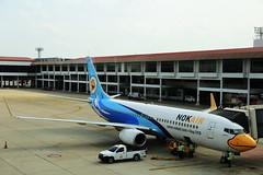 Nok Air (772A9648) (Passenger32A) Tags: travel plane thailand flying airport gate asia bangkok aircraft flight terminal donmuang nokair b737800