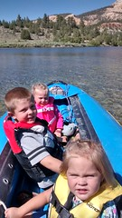 Riding in the Boat (slashvee) Tags: family kids canoe boating