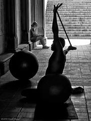 The Fitness Guru (CVerwaal) Tags: nyc newyork centralpark silhouettes fitness bethesdaterrace microfourthirds olympusem5 mzuiko25mmf18