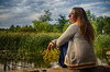 A Moment of Solitude (flashfix) Tags: september272016 2016 2016inphotos nikond7000 nikon ottawa ontario canada 40mm marsh portrait selfportrait nature mothernature outdoors sweater autumn tallgrass flashfix flashfixphotography