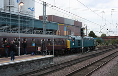 Standing room only at Warrington (Chris Baines) Tags: cfps 40145 departs warrington charter from carnforth buxton