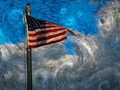 gone with the wind (TimsTolalPhotography) Tags: flag wind sky clouds