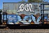 SUF TRAV (TheGraffitiHunters) Tags: graffiti graff spray paint street art colorful freight train tracks benching benched suf floater trav boxcar