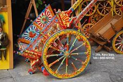 Carretto siciliano (marcopa82) Tags: city street travel sun light italy beautiful colors wheels sicily traditional folklore palermo pa carretto siciliano