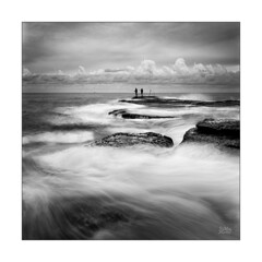 On the edge (Mike Hankey.) Tags: focus littlebay midtide sunrise cloud published seascape