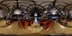 Come on in... (ShinyPhotoScotland) Tags: church scottishepiscopalchurch stjohnthebaptist perth scotland 360 panorama spherical lg360cam hdr enfuse interior building episcopalian light religion spirituality candles wood pews stainedglasswindows colour