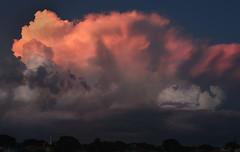 Pink Lightning (Beth Reynolds) Tags: lightning pink clouds storm summer nature sunset color sky