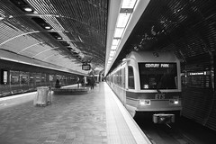 Edmonton Transport B (traversmesyeux) Tags: edmonton subway transport linear vanishing point blackandwhite bnw bnwphotography monochrome grey canon canonphotography canonkissx8i canon750d canont6i composition urban