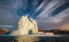 Good Morning Greenland! (hpd-fotografy) Tags: arctic greenland scandinavia sunrise clouds cold cruise dramatic goldenhour ice iceberg landscape light morning north sailing sea seascape sunset water weather wideangle ~themagicofcolours~xv