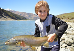 Jacks Trout (Froghorn Leghorn) Tags: kids brown trout fishing new zealand