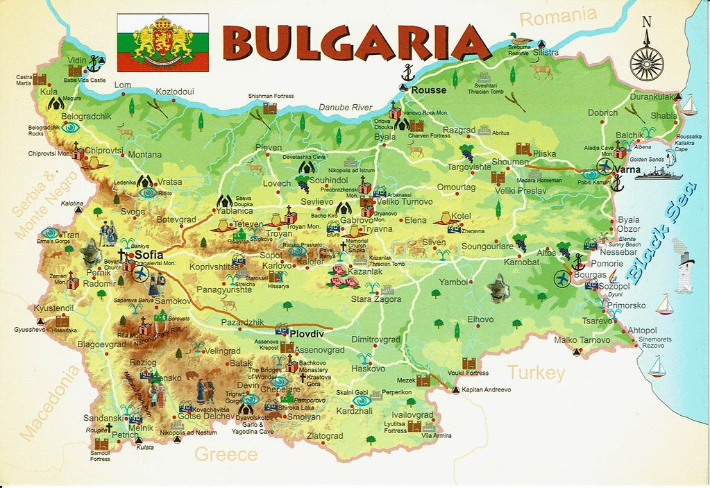 Karte Bulgarien.The World S Best Photos Of Bulgarien And Postcard Flickr