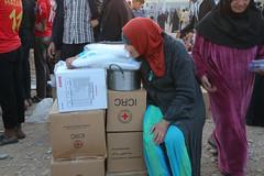 عمليات الاغاثة وتقديم المساعدات الى العوائل النازحة من مختلف قرى ومناطق محافظة #نينوى (18) (جمعية الهلال الاحمر العراق) Tags: نينوى مساعداتانسانية مساعدات موصل