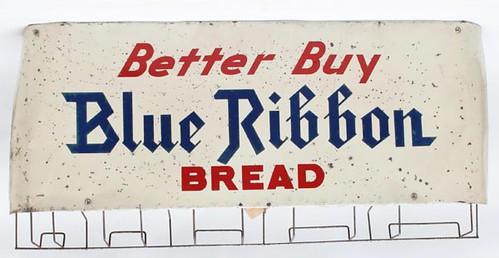 Blue Ribbon Bread Sign w/ Bag Holder ($145.60)