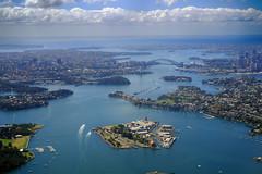 Sydney Harbour (heritagefutures) Tags: sydney harbour cockatoo island aerial abx syd va1178 aircraft atr72