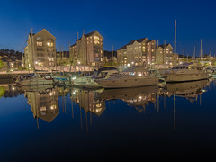 Silence (Wizard CG) Tags: portishead marina uk england bristol boats flats leisure hdr blue hour long exposure britain europe north somerset united kingdom boat reflection water waterfront outdoor city architecture skyline