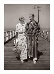Fashion 0312-29 (Steve Given) Tags: familyhistory socialhistory fashion lady gentleman pyjamas boardwalk seaside couple