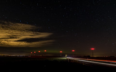 Aurora borealis and other lights (Pingo2002) Tags: canon 7dmk2 tokina norrsken aurora borealis light trials october 2016 stars clouds city car