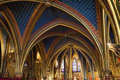Sainte Chapelle (Mikey Down Under) Tags: paris france church sainte chappelle chapel stained glass window inside vestibule entry entrance ceiling gold arch vaulted