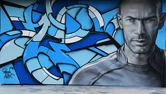 Zizou (HBA_JIJO) Tags: streetart urban paris art france artist brok 3hc hbajijo painting alex peinture portrait football celebrity spray star soccer foot sportif zinedinezidane zidane homme man footballeur