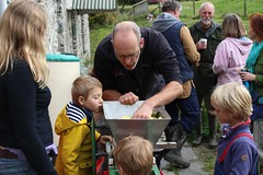 Scratting Apples with a scratter 3 (Local Food Initiative) Tags: permaculture apple day apples press pressing cider group sustainable orchard scrat scratting crusher scratted pulper