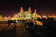 Cannons of Derry City Walls - Northern Ireland (Gareth Wray - 9 Million Views - Thank You) Tags: craigavon bridge derry londonderry landmark historic city maiden old steel iron metal water river foyle scenic tourist tourism gareth wray photography strabane county scape cityscape summer night view northern ireland ni uk irish architecture nikon nikkor 1424mm wide angle lens photographer vacation holiday europe d810 guild hall guildhall square wall cannons tower clock outdoor peace building walls seige canons bog bogside double baston roaring meg