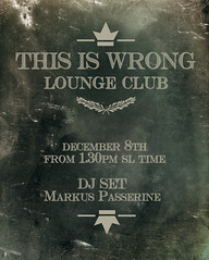 THIS IS WRONG club - DJ SET (Dec 8th) (THIS IS WRONG - Eva Artemesia (owner)) Tags: club lounge invitation exclusive dj set party night retr vintage thisiswrong vip card music dance rock alternative electro