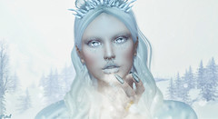 Cœur de Glace (♛ Baronne ♛) Tags: secondlife avatar winter 3d sl french hiver frozen glace ice septum piercing mad on9 lelutka catwa face visage hair white portrait blow snowflakes mesh flocon flakes moonamore ring xmas christmas thearcade piece lashes eyes lens ikon artic polar snow neige beauty fashion mode model pose mannequin beautiful belle pretty lady girly queen princess gacha rare tiara crown lips lipstick eyeshadow shadow metaverse titzuki nails bijou accessories accessory accessoires nose