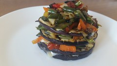 Torretta di Melanzane grigliate con Verdure e Gorgonzola (RicetteItalia) Tags: torretta melanzane senza glutine