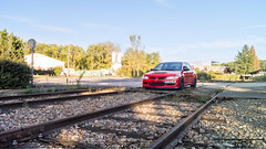 7 - (Jumpy' Photographie) Tags: sony alpha a65 shoot shooting lancer evo evo8 mitsubishi sun soleil voiture car cars red rouge noir black train france franaise japon japonaise