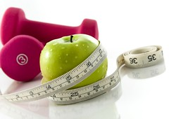 Diet and exercise (williamchildress1) Tags: apple dumbbells handweights exercise exerciseequipment diet health fitness healthandfitness dietandexercise green pink womensfitness weight weightloss shape gettinginshape toning workingout threepounds three pounds 3pounds fruit vegetable measuringtape slim sportsequipment gym reflection colorful