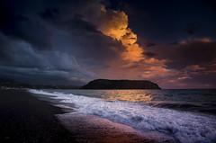 Tempesta al tramonto - Storm at sunset (Immacolata Giordano) Tags: tramonto temporale sunset storm praiaamare calabria italia italy nikond7000
