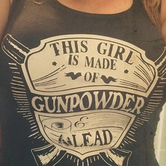 Customer Photo: This Girl is Made of Gunpowder and Lead. Women's T-Shirt. (Sons of Liberty Tees) Tags: countrygirls girlpower girlswhoshoot girlswithguns girlytee glockgirl gunchick gungirl livefreeordie madeinusa molonlabe nra patriot pew pewpewpew rangegirl righttobeararms shallnotbeinfringed shooting sisterpatriots sonsofliberty sonsoflibertytees womenwhoshoot