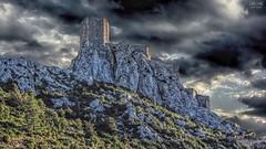 Castle in clouds.