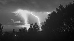 Brightness explosion (Quave) Tags: lightning mesh merge clouds storm night bright bw blackandwhite