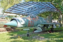 MIG-21MF 673 EAST GERMAN AIR FORCE (shanairpic) Tags: preserved museum merseburg jetfighter military mig eastgermanairforce