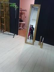 In the photostudio (VladPL) Tags: sonyexperiaz3compact sony sonyexperia mobilephoto mobilecamera photostudio studio indoor mirror reflection reflections kiev ukraine europe people romantic love girl guy couple photosession