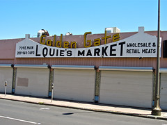 Louie's Market, Stockton, CA (Robby Virus) Tags: california sign retail golden gate market meat butcher stockton meats wholesale louies