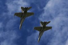 Pair (Bert#) Tags: sky newcastle airplane fighter pair australia williamstown hornet raf