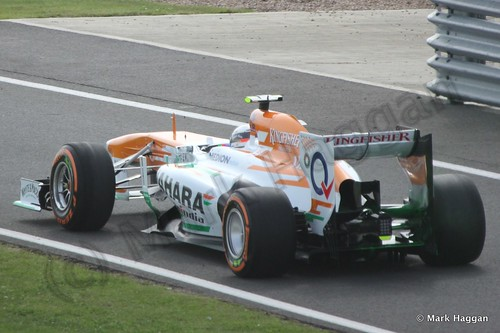 Adrian Sutil in Free Practice 3 at the 2013 British Grand Prix