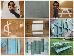 (10) How to Make a Doll's Picnic Table (Foxy Belle) Tags: mandy camping camp girl make kids paper table kid friend inch doll picnic child furniture crafts glue jenny 15 cardboard american childrens how 18 simple diorama