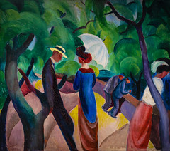 August Macke - Promenade, 1913 at Lenbachhaus Art Gallery Munich Germany (mbell1975) Tags: blue house art museum germany painting munich mnchen bayern deutschland bavaria gallery museu im expression fine arts haus august galerie muse musee m german reiter promenade expressionism expressionist museo der rider muzeum deutsch 1913 the beaux macke beauxarts blaue mze lenbachhaus lenbach kunstareal derblauereiter stdtische museumuseum thebluerider