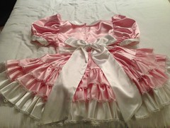 option 1.1 back (shellyanatine) Tags: pink dress crossdressing sissy frilly